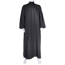 Qamis Al-Haramayn manches longues noir