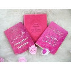 Pack Cadeau rose pour femme musulmane (3 livres bilingue français/arabe) : Les 40...