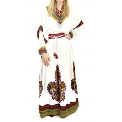 Robe orientale ample avec broderies et décorations de Dubaï