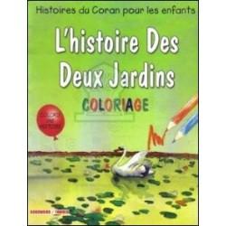 Coloriage : L'histoire des deux jardins