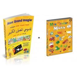 Pack : Mon Grand Imagier dictionnaire Trilingue (arabe - français - anglais) + Mes...