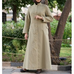 Mandarin Collar Coat Jilbab Mandarin Collar Coat