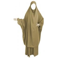Jilbab adulte 2 pièces - Cape + Jupe évasée - Couleur camel