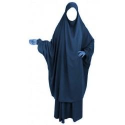 Jilbab adulte 2 pièces - Cape + Jupe évasée - Couleur bleu nuit