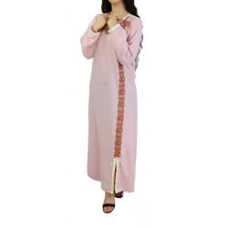 Robe brodée et perlée (Plusieurs couleurs disponibles)