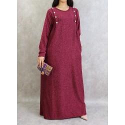 Plum heather long dress