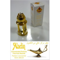 "Concentrated perfume Musk d'Or ""Aladin"" mixed - In golden bottle 4 columns with box"