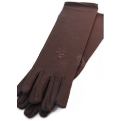 Pair of brown gloves for women ideal for jilbeb (brown glove)