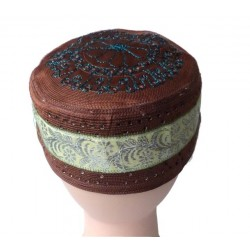 Brown chachia with pretty golden decorations