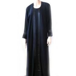 Black abaya with matching scarf