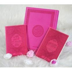Coffret/Pack Cadeau Rose : Le Saint Coran , Chapitre Amma (Jouz' 'Ammâ) et La citadelle...