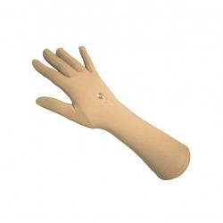 Pair of beige gloves for women ideal for jilbeb