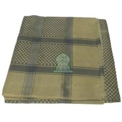Ghutra large square khaki green and black Saudi scarf
