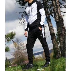 Black and White man jogging tracksuit set (Best Ummah brand)
