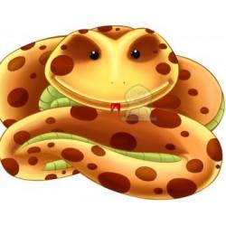Apprends en t'amusant avec le serpent (Coloriage + découpage + stickers) - تعلم والصق...