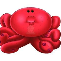 Apprends en t'amusant avec la pieuvre (Coloriage + découpage + stickers) - تعلم والصق...