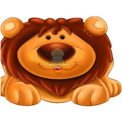 Apprends en t'amusant avec le lion (Coloriage + découpage + stickers) - تعلم والصق ولون...