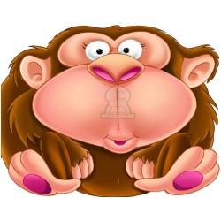 Apprends en t'amusant avec le singe (Coloriage + découpage + stickers) - تعلم والصق...