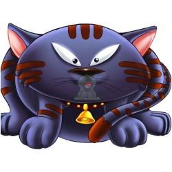 Apprends en t'amusant avec le chat (Coloriage + découpage + stickers) - تعلم والصق ولون...