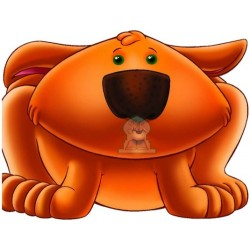 Apprends en t'amusant avec le chien (Coloriage + découpage + stickers) - تعلم والصق...