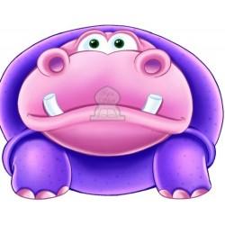Apprends en t'amusant avec l'hippopotame (Coloriage + découpage + stickers) - تعلم...