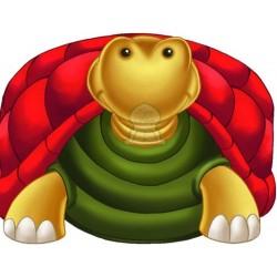 Apprends en t'amusant avec la tortue (Coloriage + découpage + stickers) - تعلم والصق...