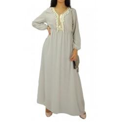 Robe longue avec strass et pompons (Plusieurs couleurs disponibles)