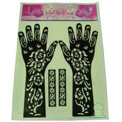 Henna tattoo designs (two hands)