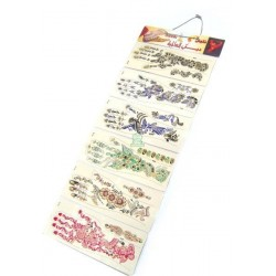 Pack of 6 different temporary tattoos for both hands