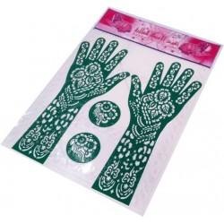 Stencils for hand henna tattoo