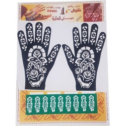 Self-adhesive stencils for hands and body (Templates for applying henna designs on the...