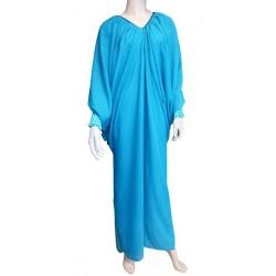 Abaya dress butterfly model - Standard size - Lagoon blue
