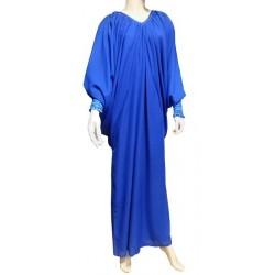 Robe Abaya modèle papillon - Taille standard - Bleu Roy