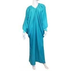 Robe Abaya modèle papillon - Taille standard - vert emeraude