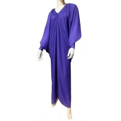 Robe Abaya modèle papillon - Taille standard - Aubergine