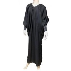 Robe Abaya modèle papillon - Taille standard - Noir