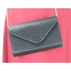 Handbag with rhinestones for women - Color Black