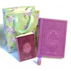 Pack pour femme couleur mauve (Coran - Citadelle - Parfum - Sac cadeau)