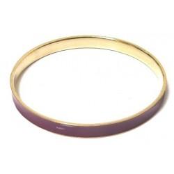Women's fancy bracelet in gold metal adorned with a purple band