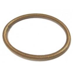 Women's semi-rigid fancy bracelet in plain brown shiny thread