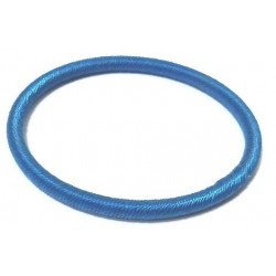 Women's semi-rigid fancy bracelet in plain blue shiny thread