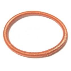 Women's semi-rigid fancy bracelet in plain orange shiny thread