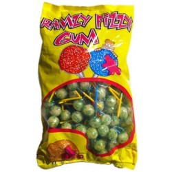 Bag of 200 Ramzy Fizzy chewing gum lollipops with mojito flavor