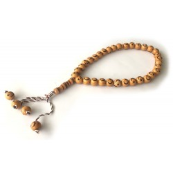 """33-bead """"Sebha"""" rosary with crescent and star on each bead"""
