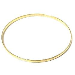 Women's simple rigid fancy bracelet in gold metal