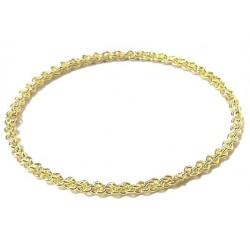 Women's fancy bracelet in braided gold metal