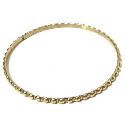 Women's fancy bracelet in gold metal adorned with pearl-shaped patterns
