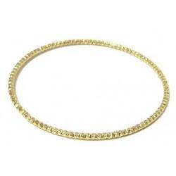 Women's fancy bracelet in ornate and chiseled gold metal