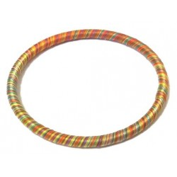 Women's fine semi-rigid bracelet of medium thickness in multicolored cotton thread