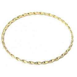 Women's fancy bracelet in twisted golden metal